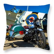 1940 Triumph And Supermarine Mk959 Spitfire  Throw Pillow
