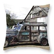 1940s Era Packard Wood-panel Wagon Throw Pillow