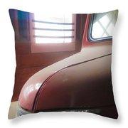 1940s Era Red Chevrolet Truck  Throw Pillow