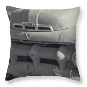 1940's Ford Truck Black And White Throw Pillow
