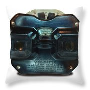 1940's View Master Stereoscopic Viewer Throw Pillow