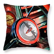 1941 Buick Eight Special Steering Wheel Emblem Throw Pillow