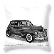 1941 Cadillac Fleetwood Sedan Throw Pillow