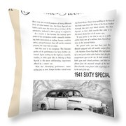 1941 Cadillac Fleetwood Sedan Vintage Ad Throw Pillow