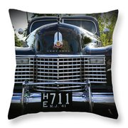 1941 Cadillac Front End Throw Pillow