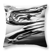 1941 Cadillac Hood Ornament 4 Throw Pillow