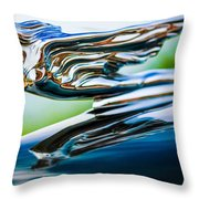 1941 Cadillac Hood Ornament 5 Throw Pillow