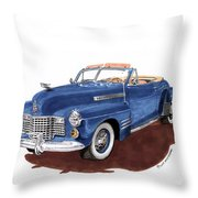1941 Cadillac Series 62 Convertible Throw Pillow