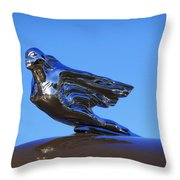 1941 Cadillac Series 62 Coupe Hood Ornament Throw Pillow