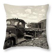 1941 Chevy Truck In Sepia Throw Pillow