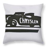 1941 Chrysler Indianapolis 500 Pace Car Throw Pillow