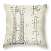 1941 Gibson Electric Guitar Patent Drawing Throw Pillow
