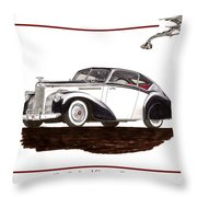 Packard Custom Coupe 120 Throw Pillow