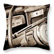 1941 Packard Steering Wheel Emblem Throw Pillow