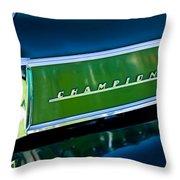 1941 Sudebaker Champion Coupe Emblem Throw Pillow by Jill Reger