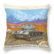 1941 W W I I Patton Tank Throw Pillow