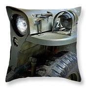 1942 Ford U.s. Army Jeep Ll Throw Pillow