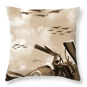 1942 Indian 841 - B-17 Flying Fortress' Throw Pillow