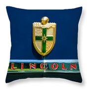 1942 Lincoln Continental Cabriolet Emblem Throw Pillow