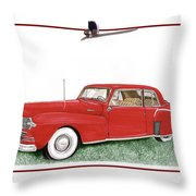 1942 Lincoln Continental Coupe Throw Pillow