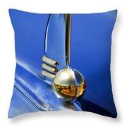 1942 Lincoln Zephyr 12 Hood Ornament Throw Pillow