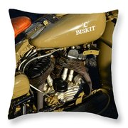 1942 Wla Harley Davidson Throw Pillow