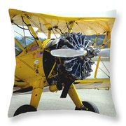 1943 Boeing Super Stearman 2 Throw Pillow
