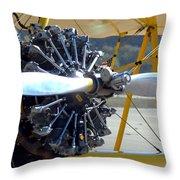 1943 Boeing Super Stearman Throw Pillow