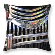 1946 Chevrolet Truck Chrome Grill Throw Pillow