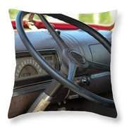1946 Chevy Dash Throw Pillow