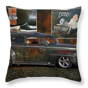 1946 Ford Deluxe Throw Pillow