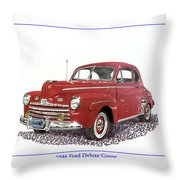 Ford Special Deluxe Coup E  From 1946  Throw Pillow