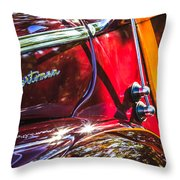 1946 Ford Super Deluxe Sportsman Convertible Side Emblem Throw Pillow