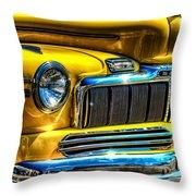 1946 Mercury Eight Street Rod Grille Throw Pillow