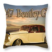1947 Bentley Throw Pillow