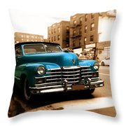 1947 Cadillac Convertible Throw Pillow