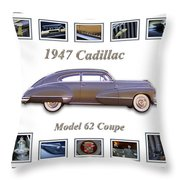 1947 Cadillac Model 62 Coupe Art Throw Pillow