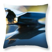 1947 Cadillac Model 62 Coupe Hood Ornament Throw Pillow