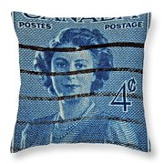1947 Canada Four Cents Stamp Throw Pillow