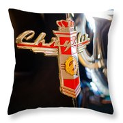 1947 Chrysler New Yorker Town And Country Convertible Emblem Throw Pillow