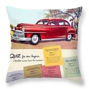 1947 - Desoto Automobile Advertisement - Color Throw Pillow