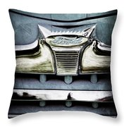 1947 Ford Deluxe Grille Emblem Throw Pillow