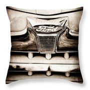 1947 Ford Deluxe Grille Grille Emblem Throw Pillow