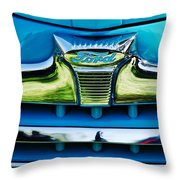 1947 Ford Deluxe Grille Ornament -0700c Throw Pillow