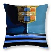 1947 Nash Surburban Hood Ornament Throw Pillow