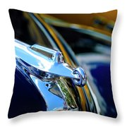 1947 Packard Hood Ornament 4 Throw Pillow