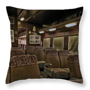 1947 Pullman Railroad Car Interior Seating Throw Pillow