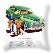 1948 - Dodge Automobile Advertisement - Color Throw Pillow