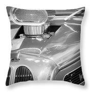 1948 Anglia Engine -522bw Throw Pillow