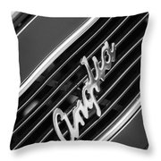 1948 Anglia Grille Emblem -510bw Throw Pillow